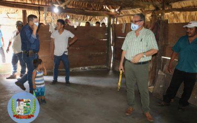 15 FAMILIAS DEL CASERÍO MOJARRAS UNO, SON BENEFICIADAS CON EL PROYECTO PISO DIGNO.
